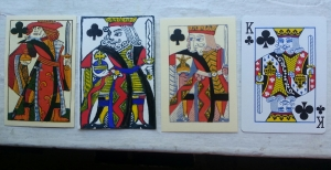 King of clubs through the ages