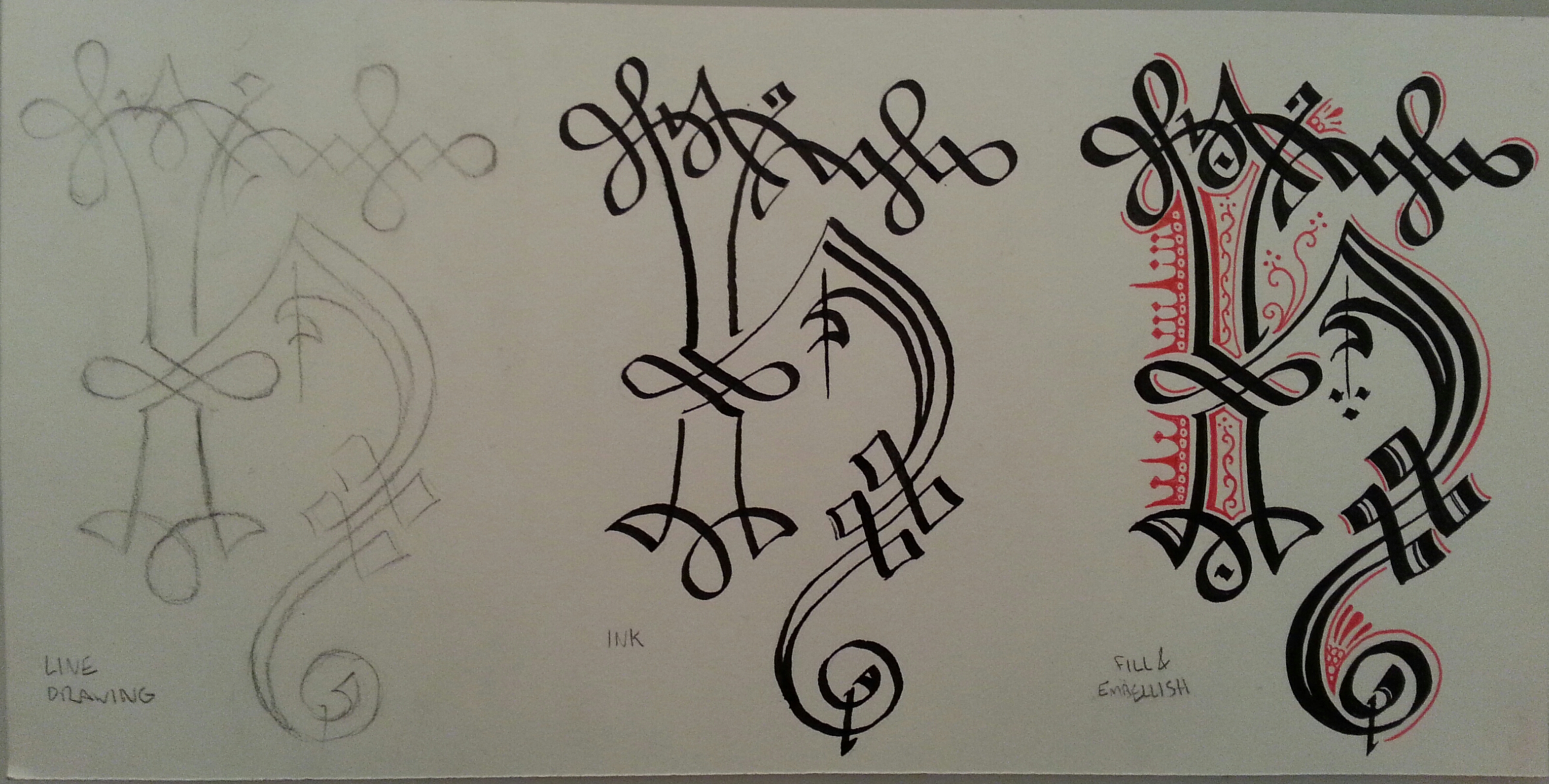 Step By Step Calligraphy Cadel Lady Heather Hall