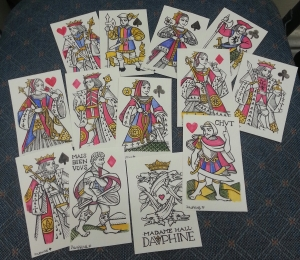 Dauphine pattern playing cards